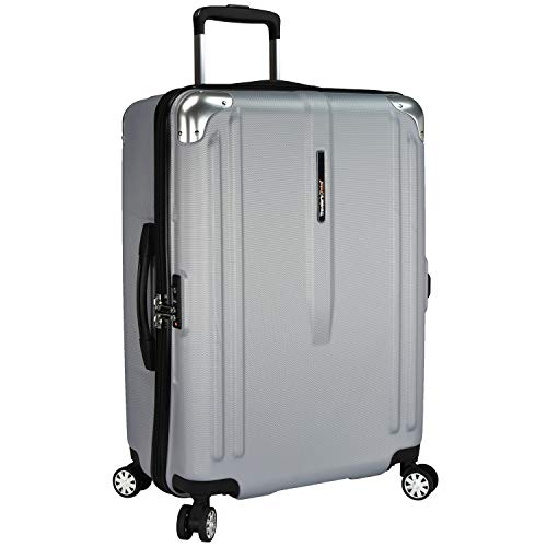 Traveler's Choice New London 100% Polycarbonate Trunk Spinner Luggage - Silver ( 26-Inch ()