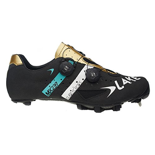 Blue Gold Shoe Black Lake MX237 Wide Men's Cycling Supercross Supercross axxOqBzAw