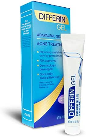 Differin Adapalene Gel 0.1% Acne Treatment, 15g, 30 Day Supply