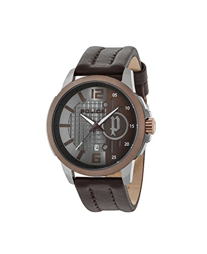 Watch POLICE SQUAD R1451291003 Men SUNRAY GRAY AND GREEN TIME AND DATE