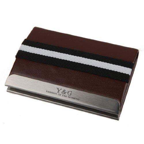 ydc03a Casual Magnetismus Leder Elastic Mehrfarbig ID Card Case Set von Y & G