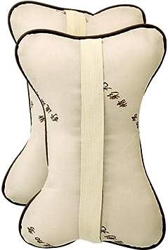 Koueja101 Car Pillow 2Pcs Ergonomic Bone Auto Seat Head Neck Rest Cushions Headrests Car Pillows Relief Exhausted Comfortable Soft Skin-Friendly