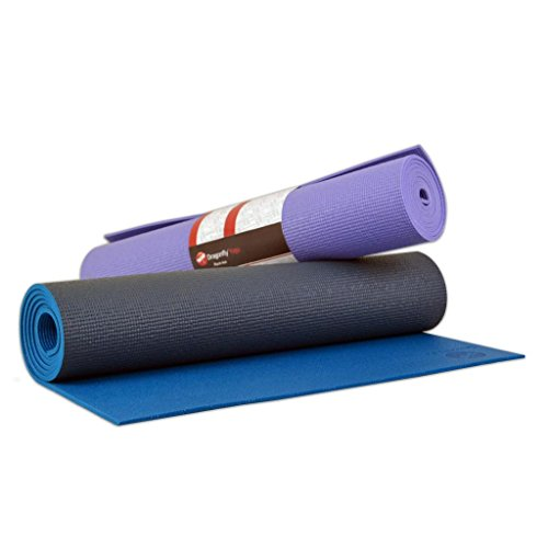 Dragonfly Yoga High Performance Non Slip Extra Thick Pure Yoga Mat - Slate Blue