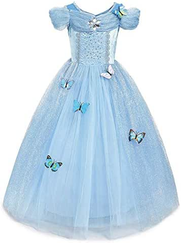 WIKi Cinderella Crystal Princess Party Costume Dress with Accessories - Best Gifts