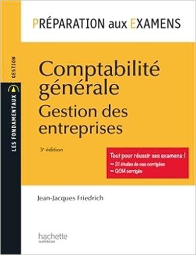 Lire en ligne Comptabilité générale - Préparation aux examens pdf ebook