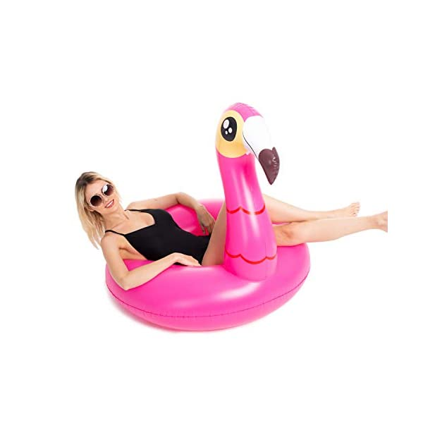 JOYIN Inflatable Flamingo and Unicorn Pool Float 2 Pack, Fun Beach Floaties, Swim Party Toys, Summer Pool Raft Lounger… 6