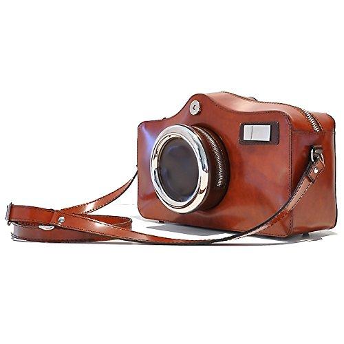 Pratesi Photocamera Radica Shoulder Bag - RMA 444 Radica Marrone