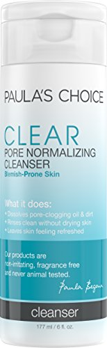 Paula's Choice CLEAR Pore Normalizing Gel Cleanser, 6 Oz Bottle Acne Face Wash with Salicylic Acid ()