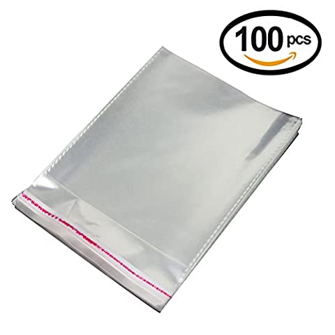 Lalago100 PCS Crystal Clear Cellophane Bags Resealable Bags (4.7
