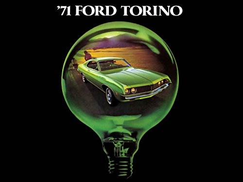 Ford Torino (1971) Car Brochure Print on 10 Mil Archival Satin Paper Green Front Side Static View 11