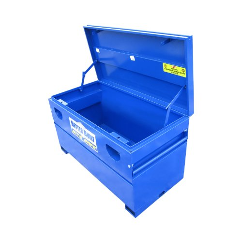 Better Built 37211296 Site Safe Tool Box L 48 in. x W 24 in. x H 25 in. Blue Powder Coated Steel Site Safe Tool Box (Best Job Site Box)