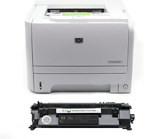 RT MICR P2035 Check Printing Package: LaserJet Enterprise P2035 Printer and 1 CE505A Modified MICR Toner Cartridge 2.3k Yield for Printing Checks