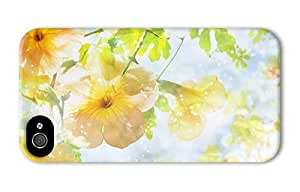 Hipster iPhone 4 case waterproof yellow flowers sunshine hd PC 3D for Apple iPhone 4/4S
