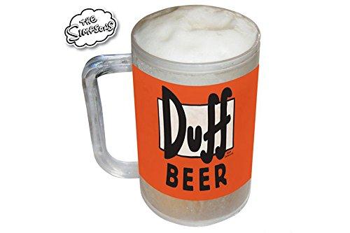 Los Simpsons Duff, apta para congelador jarra de cerveza regalo ...