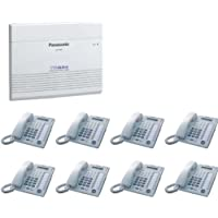 Panasonic KX-TA824 System with 8 KX-T7730 White Phones