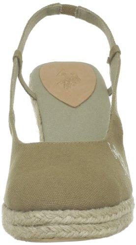 US Polo Assn - Sandalias de tela para mujer Beige (Beige (Tau))
