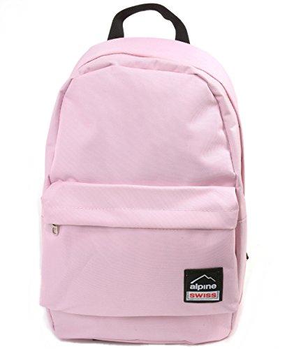 Alpine Swiss Midterm Backpack School Bag Bookbag 1 Yr Warranty Pink