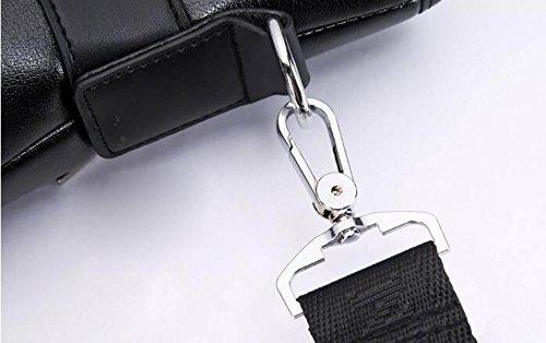 Hombres Negocios Casual Bolso Maletín Ordenador Bolso Mano Diagonal Bolso De Hombro Black