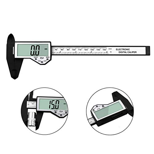 Plastic Digital Electronic Caliper IP54 Water Resistant Electronic Measuring Tool with Extra-Large LCD Screen Inch/Metric Conversion