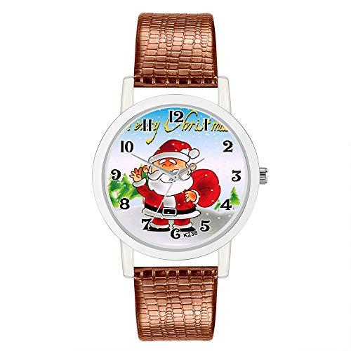 AKwell Women Watch Christmas Leather Band Analog Quartz Vogue Wrist Watches