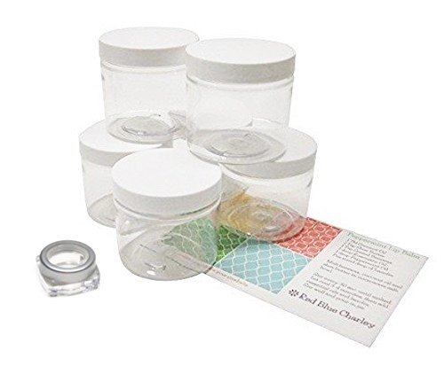 4 oz glass containers with lids - 6