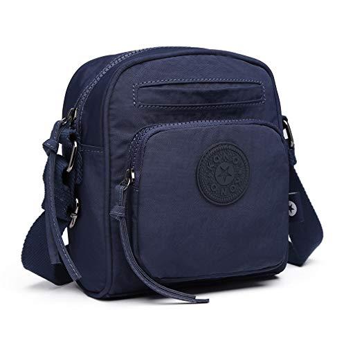Shoulder Kono Fashionable Messenger Saddle Compact bag Functional Crossbody Nylon Blue bag and Handbag tqqg1Ox6