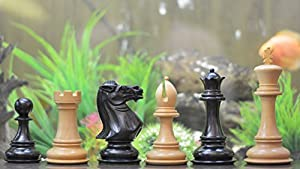 Chessbazaar The Giant Monstrous Series Staunton Chess Pieces In Ebony & Box Wood