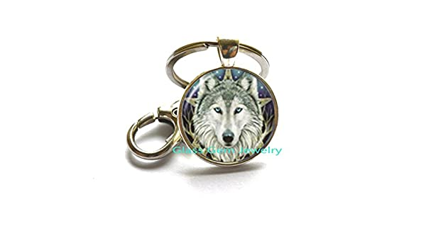 Amazon.com  Wicca Wolf Photo Keychain Pentagram Wiccan Key Ring Animal  Jewelry Pentacle Keychain Glass Cabochon Jewellery Accessories,Q0245  Arts 4fdf64843