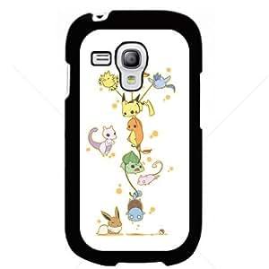 Pokemon Popular Cute Pikachu Charmander Bulbasaur Mew Eevee Mewtwo Samsung Galaxy S3 S III Mini I8190 Hard Plastic Black or White cases (Black)