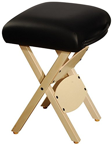 Therapist's Choice® Wooden Folding Massage Stool (Black)