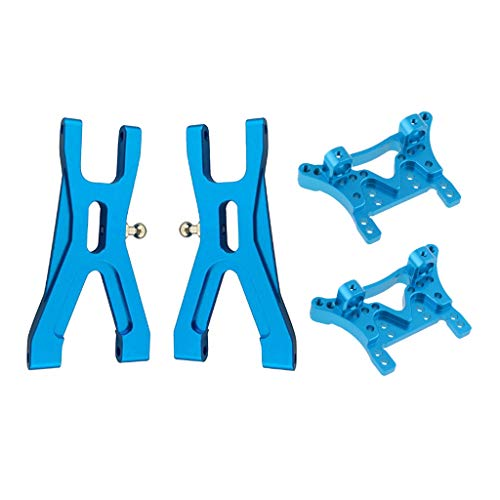 (Flameer Upgrade Parts 2X Front Lower Suspension Arms 2X Shock Tower for 1/18 Wltoys A959 RC Cars)