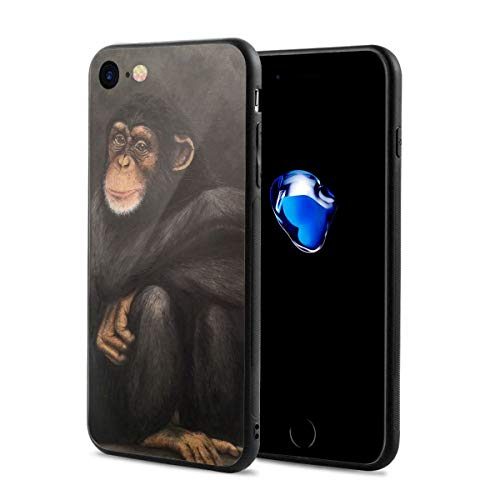 Painting Chimpanzee for iPhone 7/8 Case Protective Cover Anti-Fall Soft Shell Antifouling Otterbox for Men and Women]()