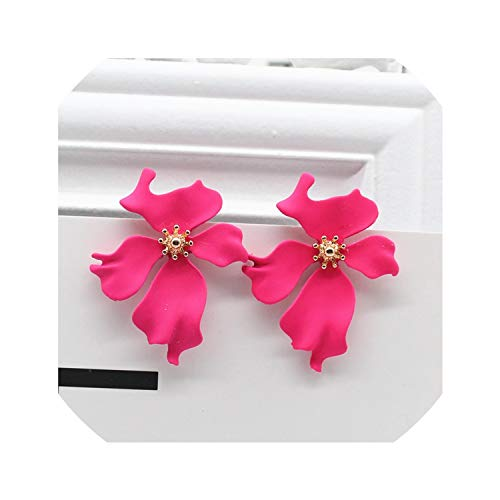 Design Fashion Jewelry Elegant Big The Maple Flower Earrings Summer Style Beach Party Earring For Woman,Bdh-Meihong ()