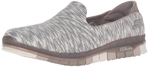 Skechers Performance Women's Go Flex Ability Walking Shoe, Taupe/White/Multi, 8.5 M US