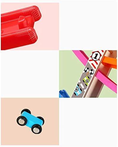 布えほん 1 2歳の男の子と6台のミニ車を持つ 子供のカーランプレーシングの幼児のおもちゃのレーシングトラックミニ駐車場トラック 赤ちゃん向けインタラクティブソフトブック (色 : マルチカラー, サイズ : 22.4x28.4x8cm)