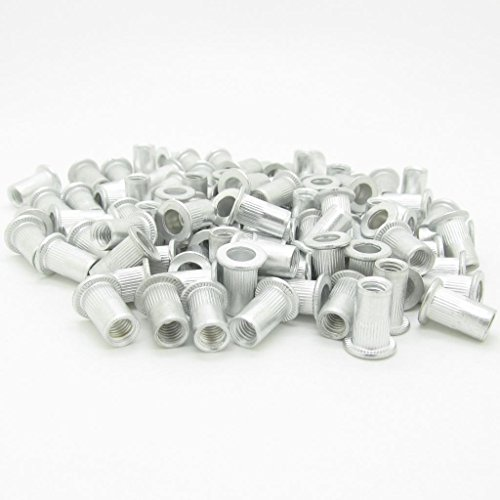 M5 5mm Flat Head Aluminum Rivet Nut Blind Insert Nut Pack of 100