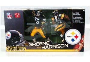 McFarlane Toys NFL Sports Picks Action Figure 2Pack Mean Joe Greene James Harrison Pittsburgh - Steelers Pittsburgh 1970s