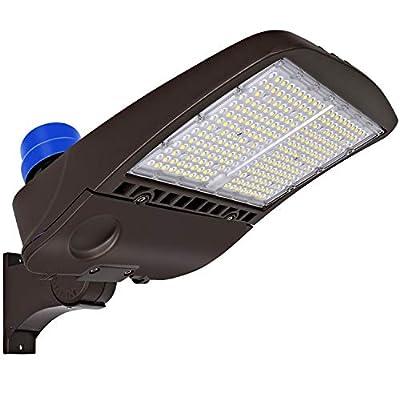 Hykolity Arm Mount LED Parking Lot Light