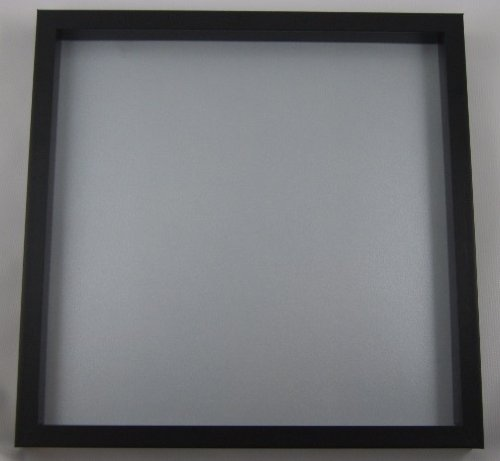 shadow box display case for drumhead 12 x 12 black frame with silver background with glass and. Black Bedroom Furniture Sets. Home Design Ideas