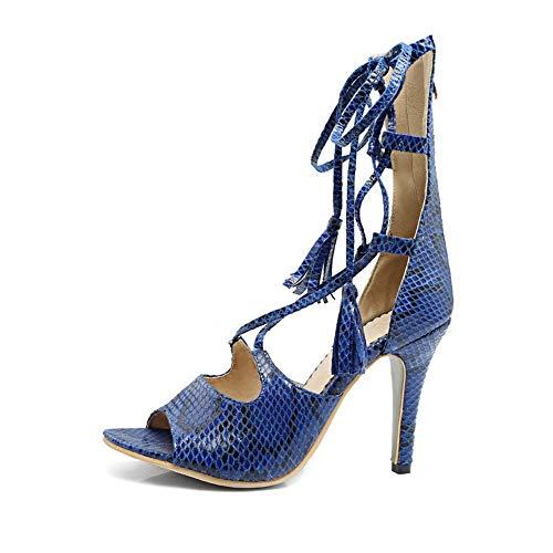 Bleu Bleu 5 36 Femme AdeeSu Ouvert SLC04329 Bout 1xFwS1XqA