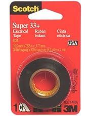 Scotch Super 33+ Electrical Tape, Vinyl-Plastic, 3/4 in x 300 in (3744)