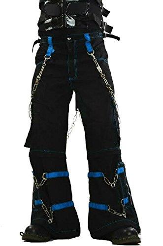 Tripp Men's Electro Techno Rave Cyber Goth Industrial Skull Pants (3XL)
