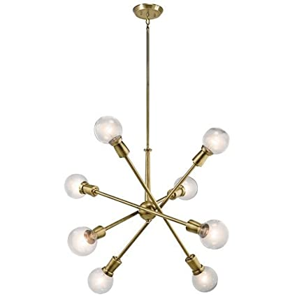 kichler dining room lighting armstrong. Kichler 43118NBR Armstrong Chandelier In Natural Brass, 8-Light Dining Room Lighting I