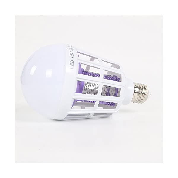 NUOVA Lampadina Anti-zanzara a LED, Mecohe 15W 1000LM 6500K Elettronico Mosca Insetto Fly Bug Zanzara Killer Bulb… 3 spesavip