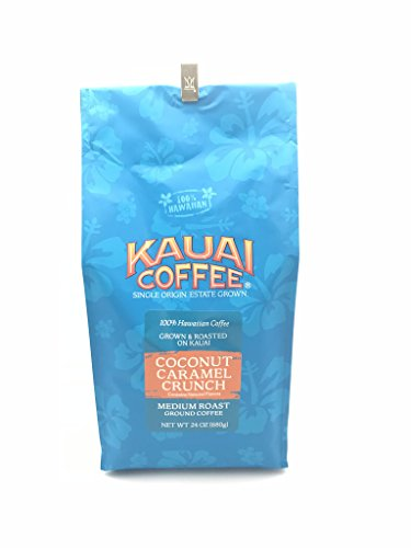 Kauai Hawaiian Coconut Caramel Crunch Coffee 24 Ounces by Kauai Coffee by Kauai Coffee