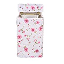 BESTOMZ Top Load Washer Dryer Cover Washing Machine Cover Zippered (Pink Flower Print)