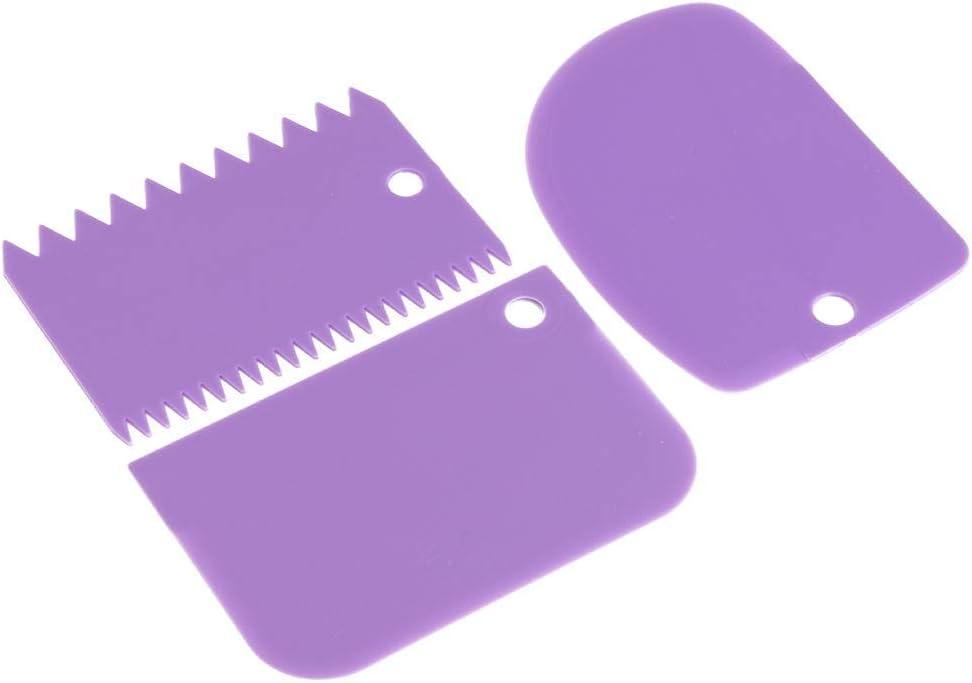 Matefield de 3/Films//Set irr/éguli/ère Teeth Edge DIY Cream Scraper Smooth Kuchenkreation Cake spatule Rouge