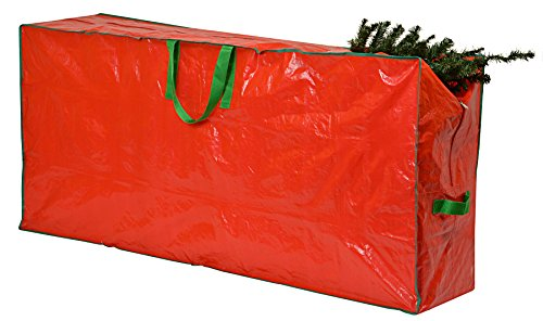 Christmas Tree Storage Bag - 65' x 15' x 30' - Premium XL zippered bag with 2 reinforced handles stores a 9-foot disassembled, artificial Christmas tree. Protects against dust, insects, and moisture.