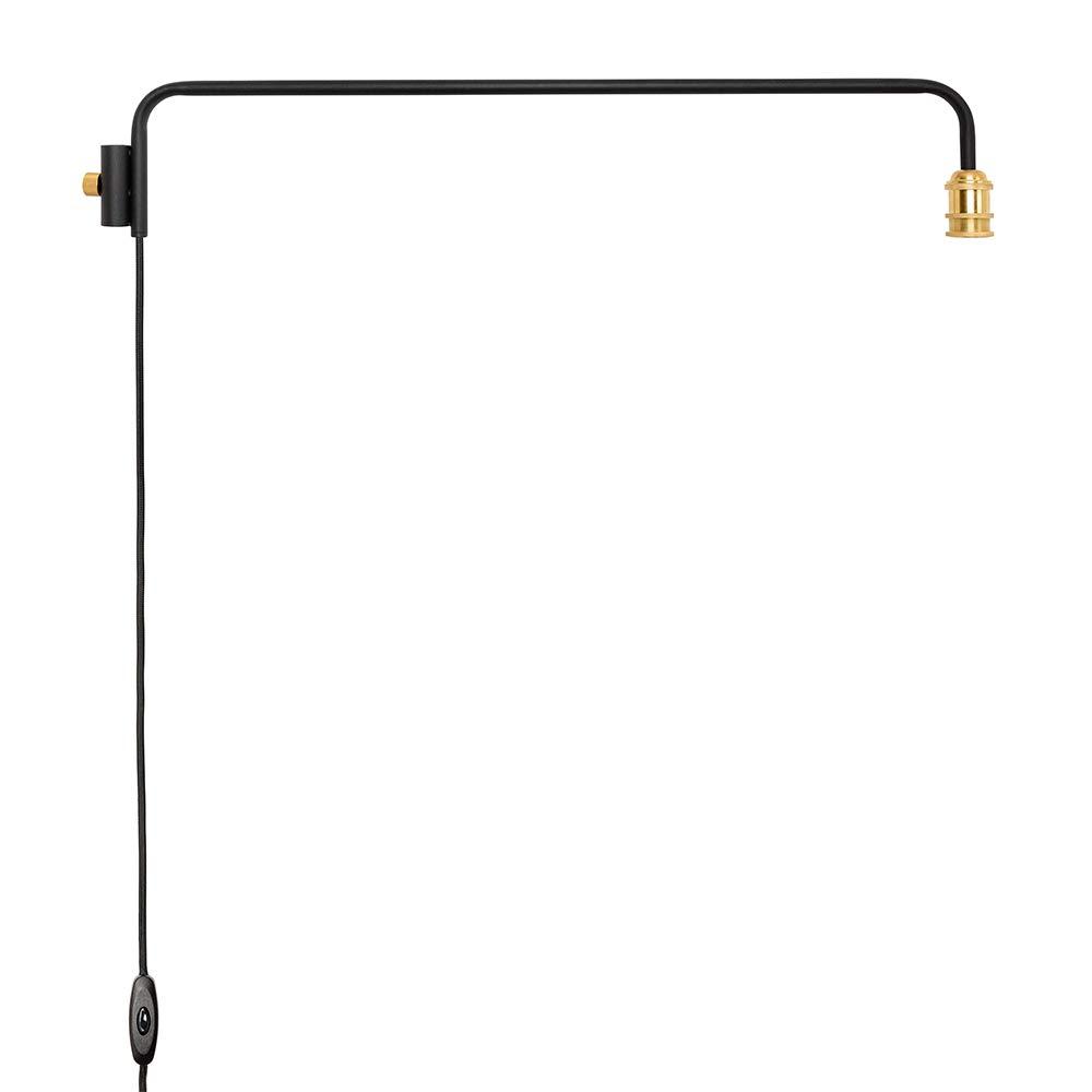 DRAW A LINE ランプアーム ブラック サイズ:幅91.5x奥行5×高さ16cm DRAW A LINE(ドローアライン) D-BLL-BK B07K37SSSM ブラック