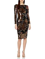 Auburn Emery Long Sleeve Sequin Midi Dress